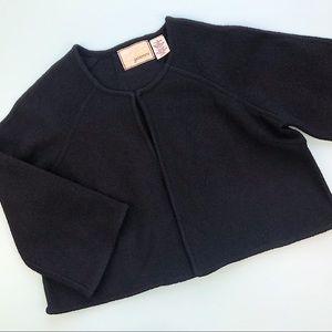 Anthropologie Guinevere Merino Wool Cropped Jacket